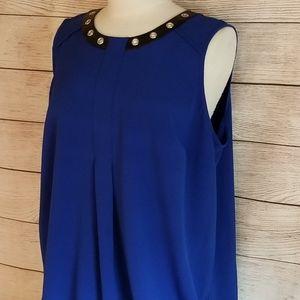 Alfani Beautiful Blue Tunic Top